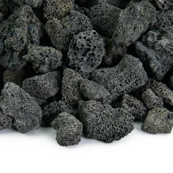 Fire Pit Essentials. 10 lbs. of Black 3/4 in. Lava Rock