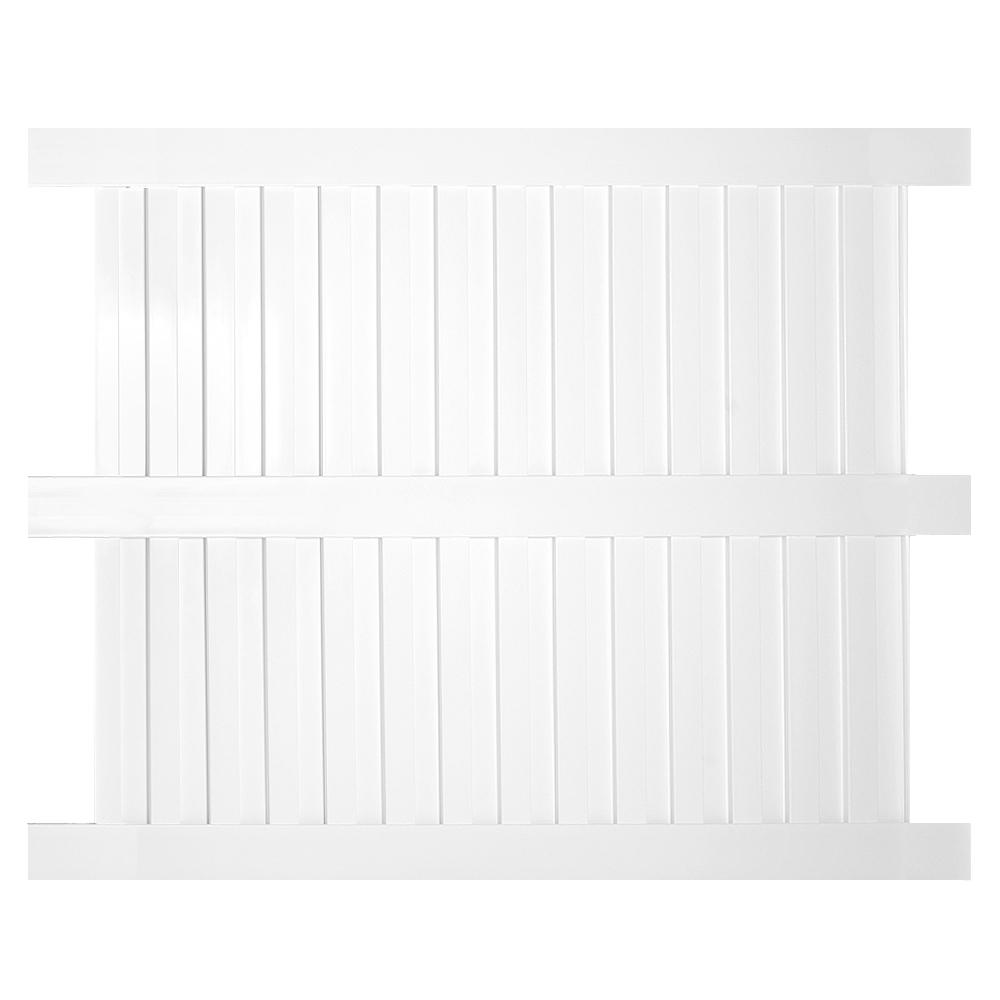 Weatherables Largo 6 ft. x 6 ft. White Vinyl Privacy Fence
