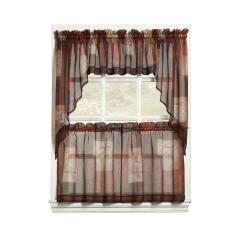 Grommet Kitchen Curtains Home Depot Financing Remodel Lichtenberg Sheer Multi Eden Printed Textured Curtain Tiers 56 In W X 24 L