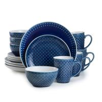 Palma 16-Piece Blue Dinnerware Set-PAL-86640B - The Home Depot