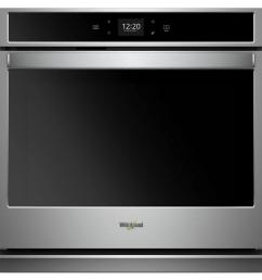 30 in single electric wall oven with touchscreen in stainless steel [ 1000 x 1000 Pixel ]