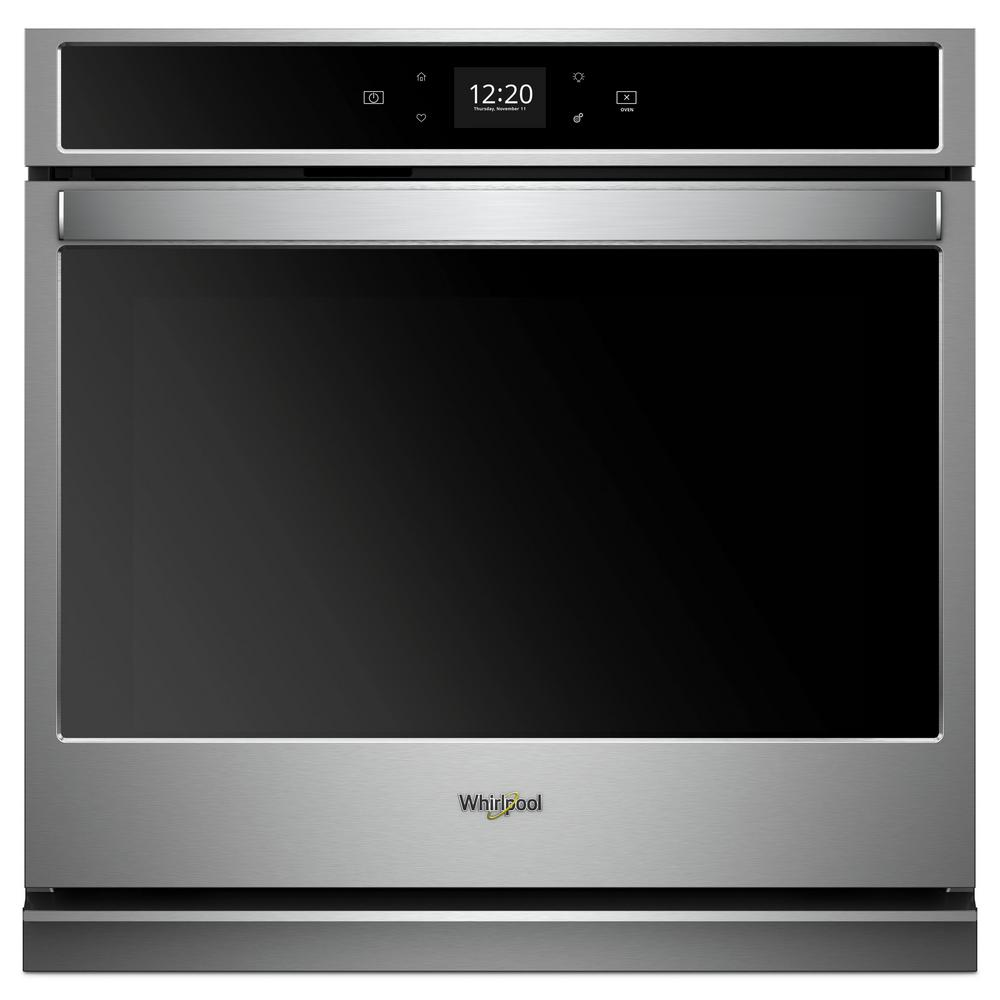 hight resolution of 30 in single electric wall oven with touchscreen in stainless steel