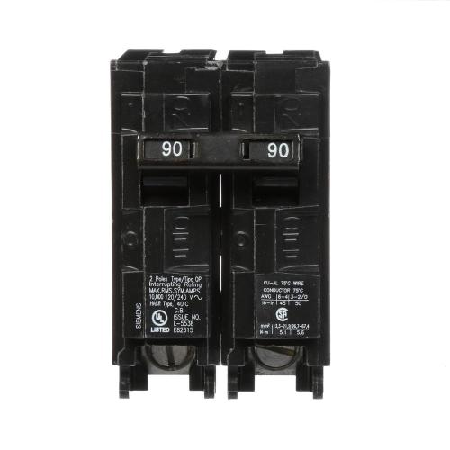 small resolution of siemens 90 amp double pole type qp circuit breaker