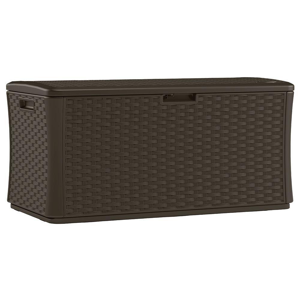 Suncast Java 134 Gal. Resin Wicker Deck Box