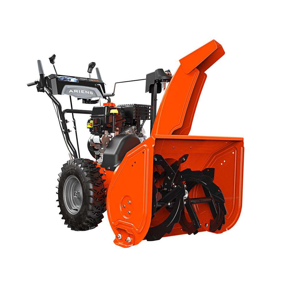medium resolution of 2 stage electric start gas snow blower with auto turn steering