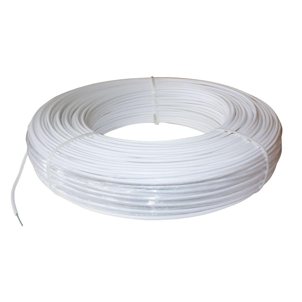 hight resolution of 12 5 gauge white safety coated high tensile horse fence wire