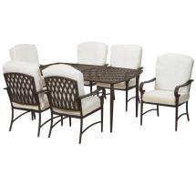 Hampton Bay Oak Cliff Custom 7-piece Metal Outdoor Dining