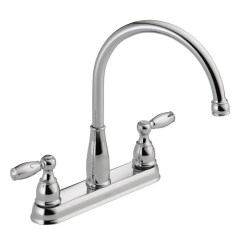 Two Handle Kitchen Faucet Tile Countertops Delta Foundations 2 Standard In Chrome 21987lf