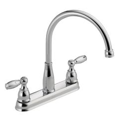 3 Hole Kitchen Faucet 24 Inch Sink Faucets The Home Depot Foundations 2 Handle Standard In Chrome