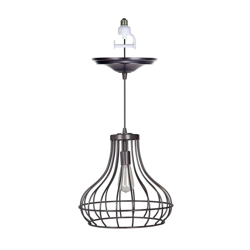 Worth Home Products Instant Pendant Series 1-Light Brushed