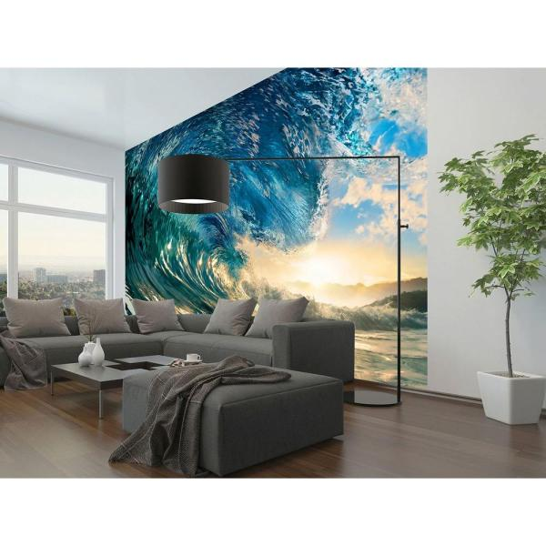 Ideal Decor 144 In. X 100 Perfect Wave Wall