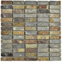 Merola Tile Crag Linear Sunset Slate 12 in. x 12 in. x 10 ...