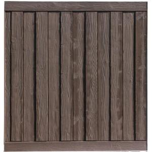 SimTek Ashland 6 ft H x 6 ft W Walnut Brown Composite