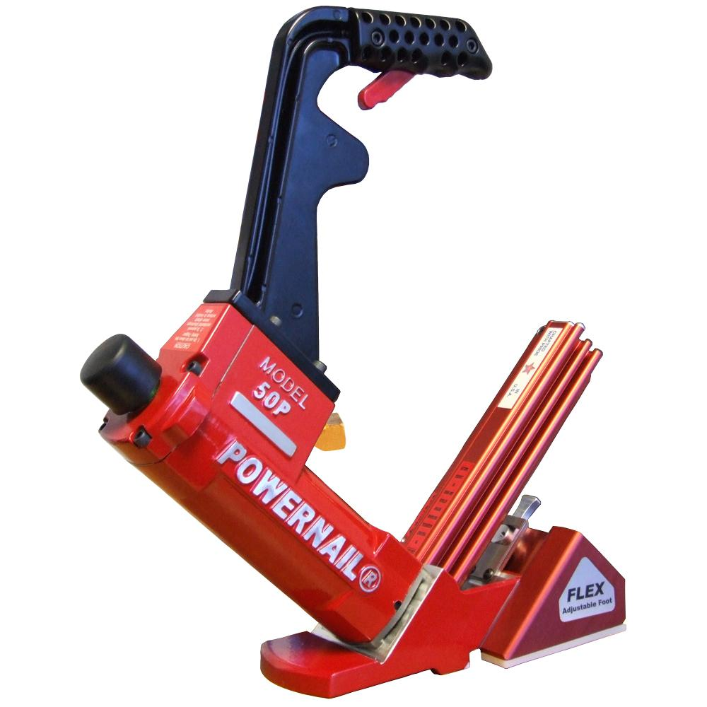 POWERNAIL Pneumatic 18Gauge Flex Hardwood Flooring Cleat Nailer50PFLEXW  The Home Depot