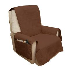 Waterproof Chair Covers For Recliners Leather Desk Modern Slipcover Recliner Sofa Furniture Cover Non Slip Brown 3 Pocket