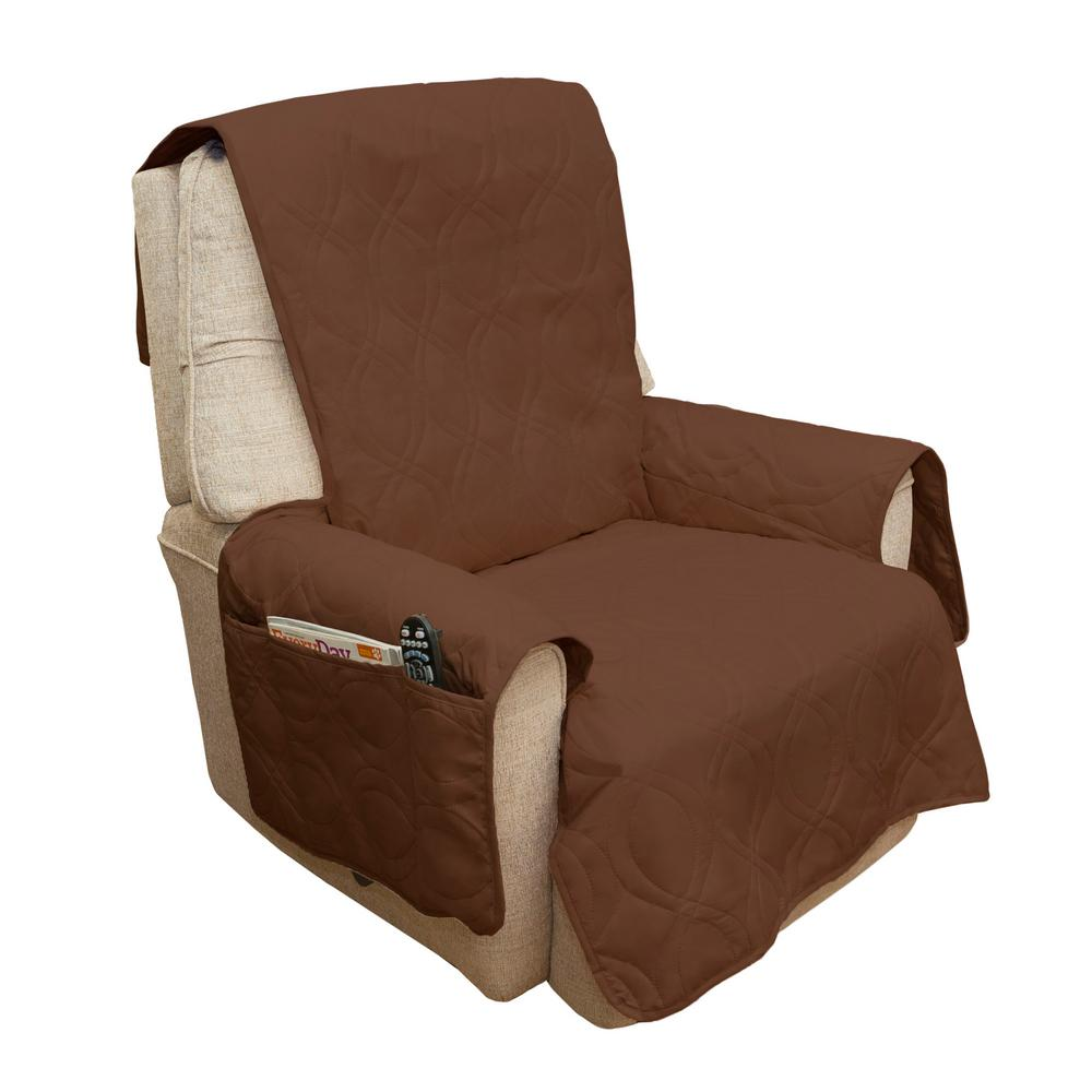 waterproof chair covers for recliners target bean bag chairs slipcover recliner sofa furniture cover non slip brown 3 pocket