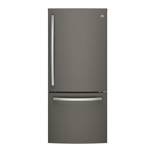 small resolution of bottom freezer refrigerator in slate fingerprint resistant and