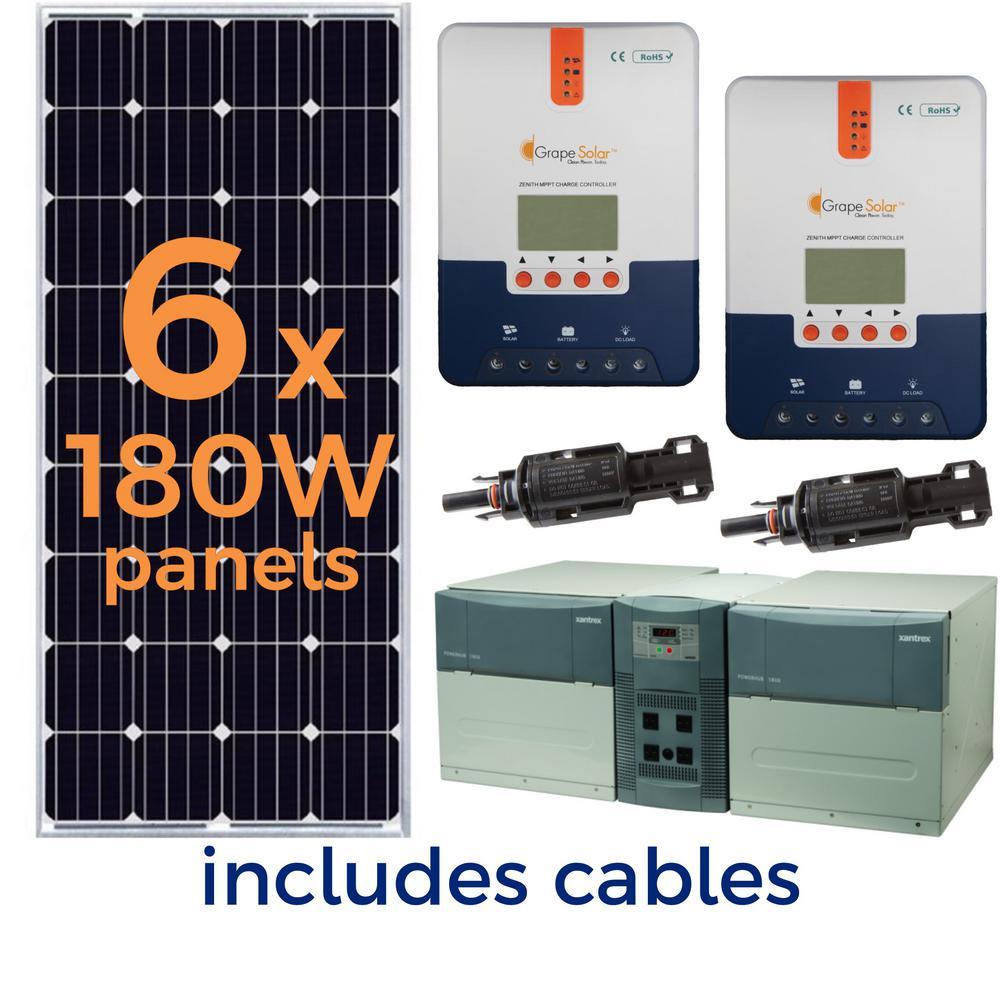 hight resolution of grape solar 1 080 watt off grid solar generator kit