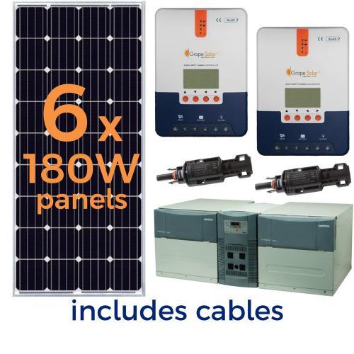 small resolution of grape solar 1 080 watt off grid solar generator kit
