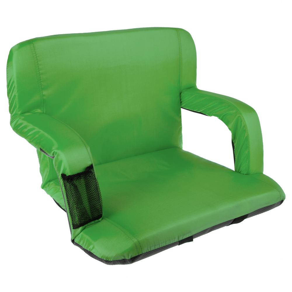 Coleman Comfortsmart Chair Home Complete Green Cushioned Wide Stadium Seat Chair With Carry Straps