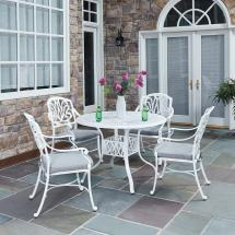 Home Styles Floral Blossom White 5-piece -weather Patio