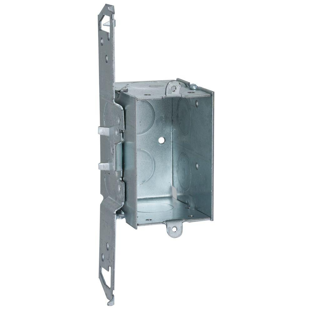 hight resolution of deep gangable switch box with 1 2 and 3 4 in ko s and ts bracket set back 1 2 in 50 pack