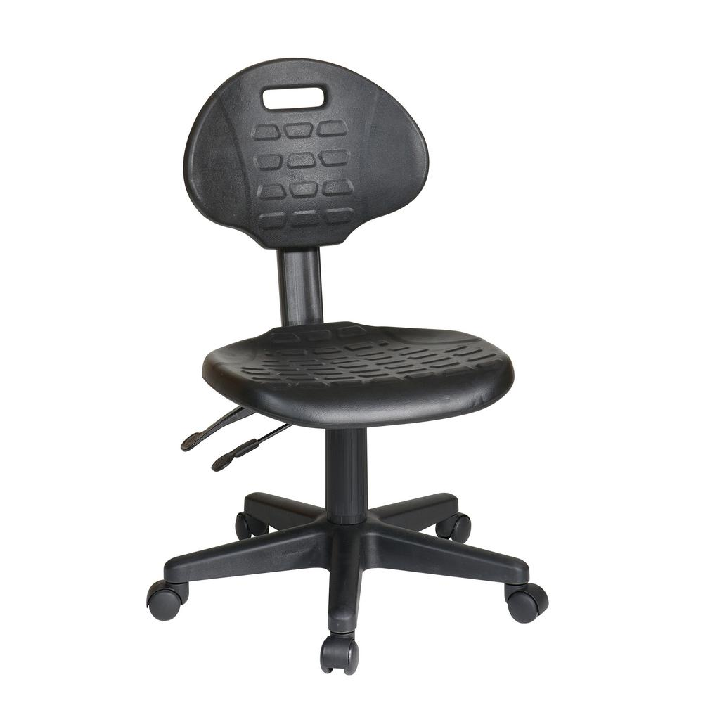 ergonomic chair angle splat mats for high chairs work smart black with seat tilt and back adjustment