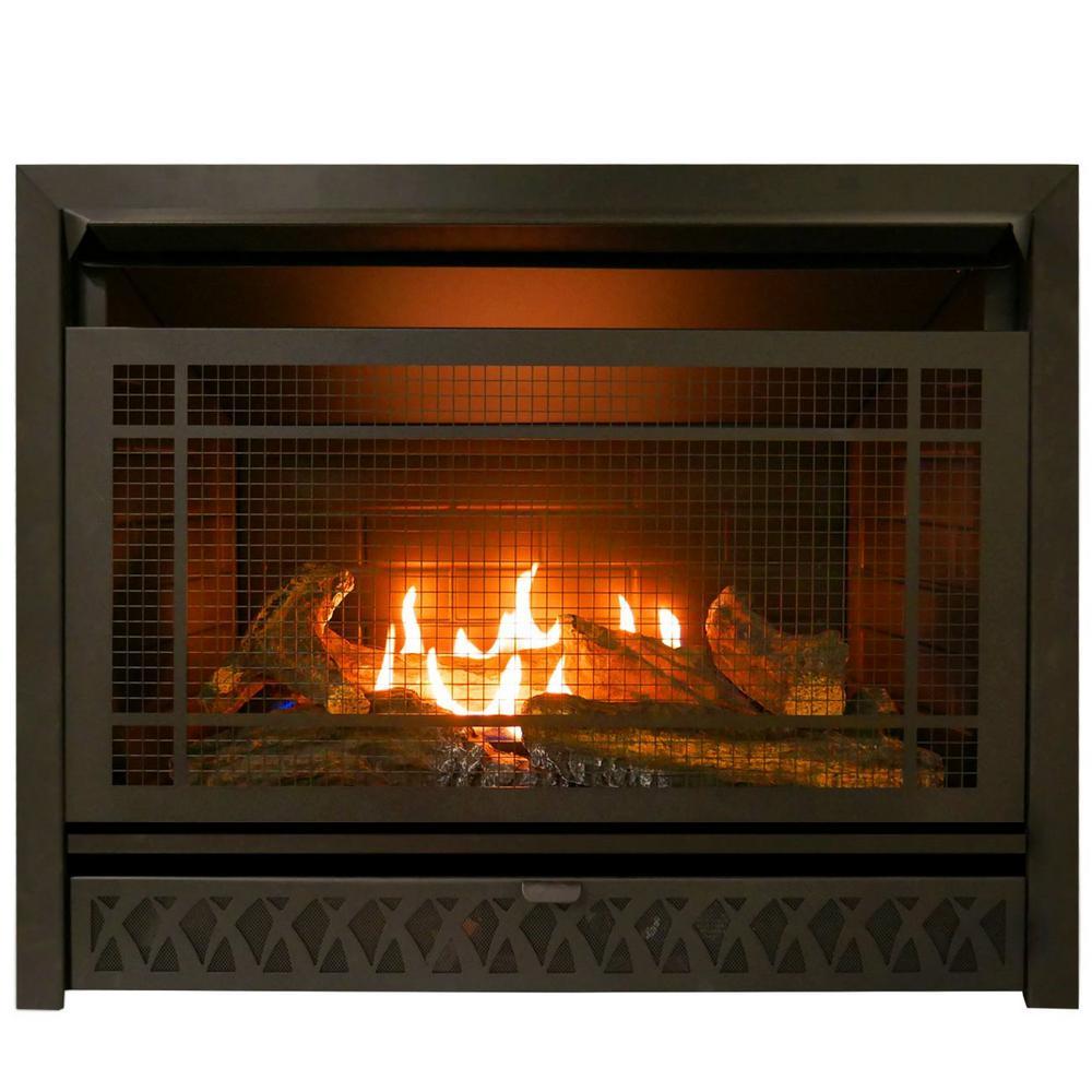 ProCom Gas Fireplace Insert Duel Fuel Technology  26000