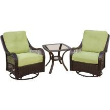 Envelor Hanover Orleans Patio 3-piece Steel Square Outdoor