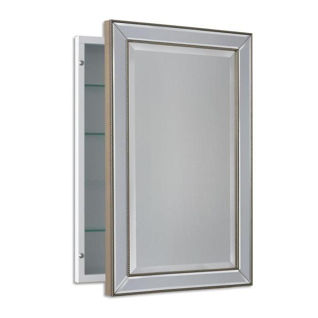 deco mirror 16 in. w x 26 in. h x 5 in. d framed single door