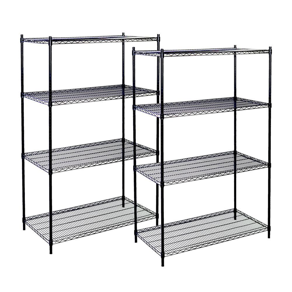 Storage Concepts 74 in. H x 36 in. W x 24 in. D 4-Shelf