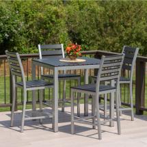 Elan Furniture Loft 5-piece Aluminum Outdoor Balcony