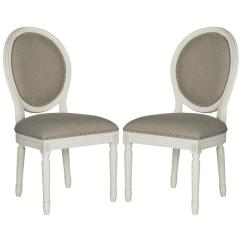 Light Grey Chair Folding Lulu Safavieh Holloway Gray Cream 19 In H French Brasserie Linen Oval Side With Silver Nail Heads Fox6228d Set2 The Home Depot