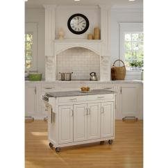 Granite Top Kitchen Cart Aid K45ss Home Styles Create A White With Salt And Pepper 9200 1023 The Depot
