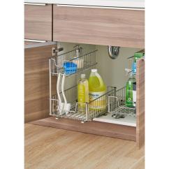 Home Depot Kitchen Storage Cabinets Bins Pull Out Cabinet Organizers Organization The Sliding Undersink Organizer