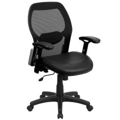 Black Leather Desk Chairs Eames Soft Pad Executive Chair Flash Furniture Mesh Office Cga Lf 0870 Bl Hd The Home Depot