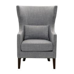 Cheap Upholstered Chairs Small Bistro Table And Outdoor Home Decorators Collection Bentley Smoke Grey Arm Chair 9434700130 The Depot