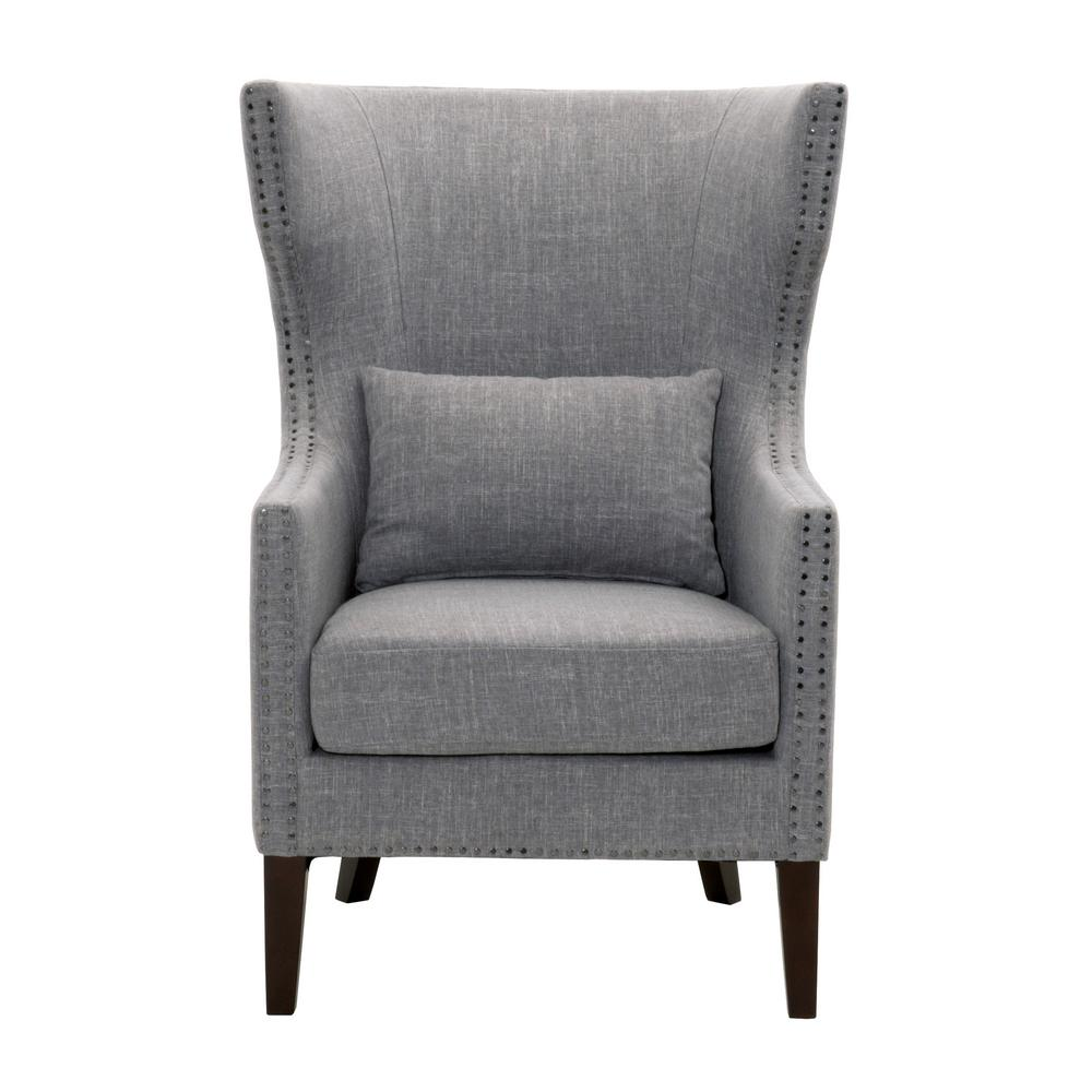 Upholstered Arm Chairs Home Decorators Collection Bentley Capri Blue Upholstered Arm
