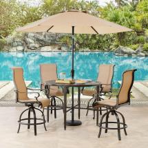 Hanover Brigantine 5-piece Aluminum Outdoor Dining Set