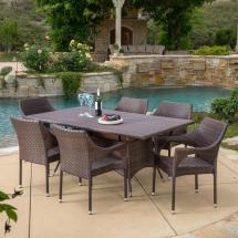 Noble House Sinclair Multi-brown 7-piece Wicker Outdoor