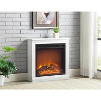 Bruxton Simple Fireplace in White-1812296COM - The Home Depot