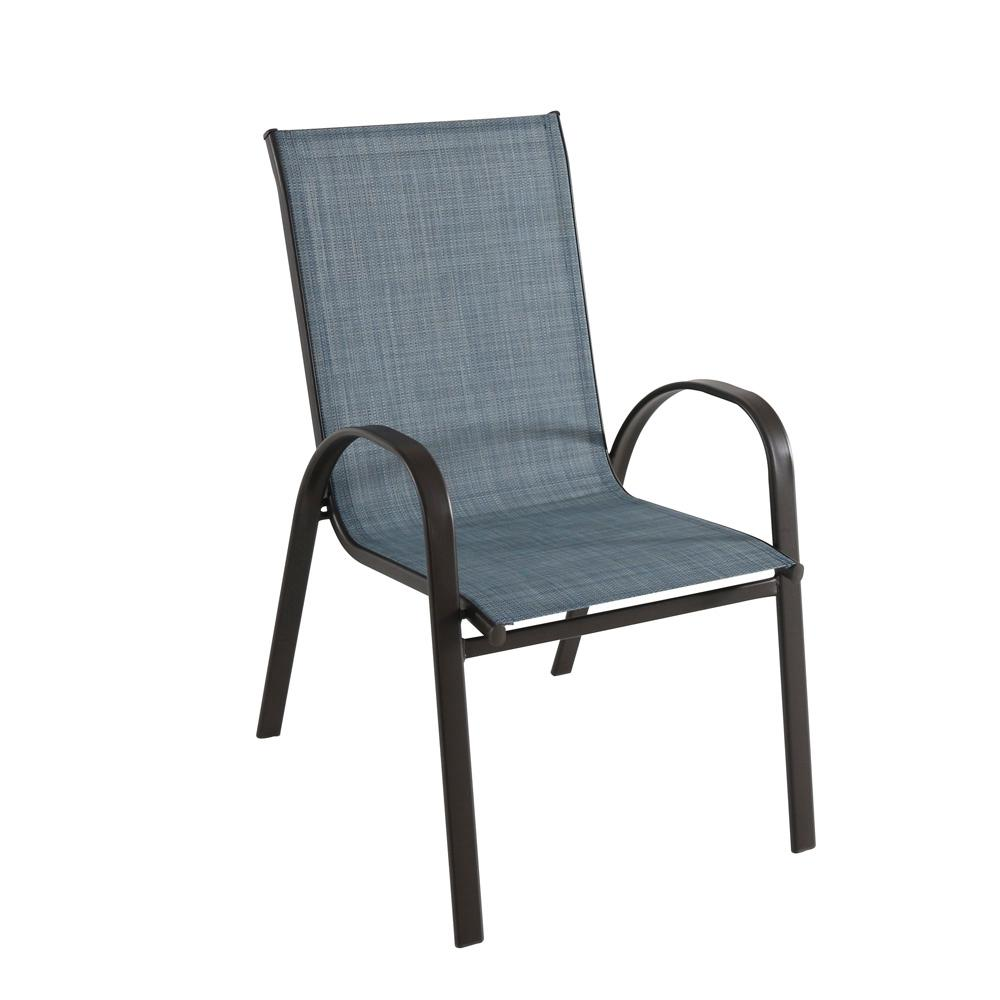 outdoor stackable chairs canada graco simple switch high chair hampton bay mix and match dark brown dining in denim sling