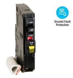 qo qwik gard 20 amp single pole gfci circuit breaker [ 1000 x 1000 Pixel ]