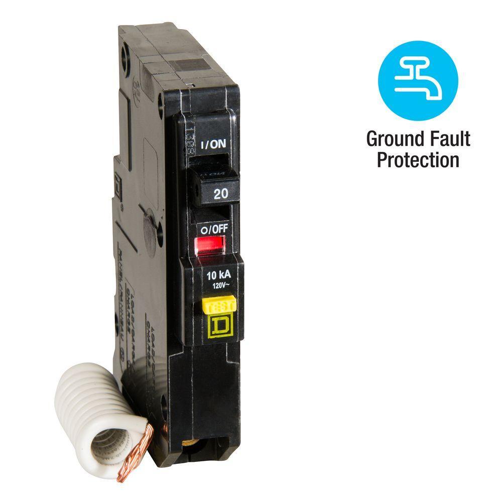 hight resolution of qo qwik gard 20 amp single pole gfci circuit breaker