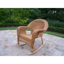 Hampton Bay Natural Wood Rocking Chair-130828n