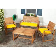 Safavieh Ozark 4-piece Patio Seating Set With Yellow