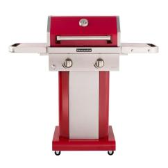 Kitchen Aid Gas Grills Sink Mats Kitchenaid 2 Burner Propane Grill In Red With Cover 720