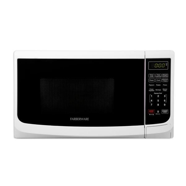 Farberware Classic 0.7 Cu. Ft. 700-watt Countertop Microwave Oven In White-fmo07abtwha