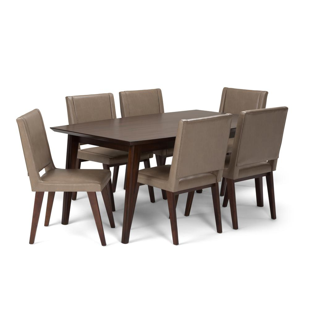 Dining Chair Set Of 6 Simpli Home Draper 7 Piece Dining Set With 6 Upholstered Dining