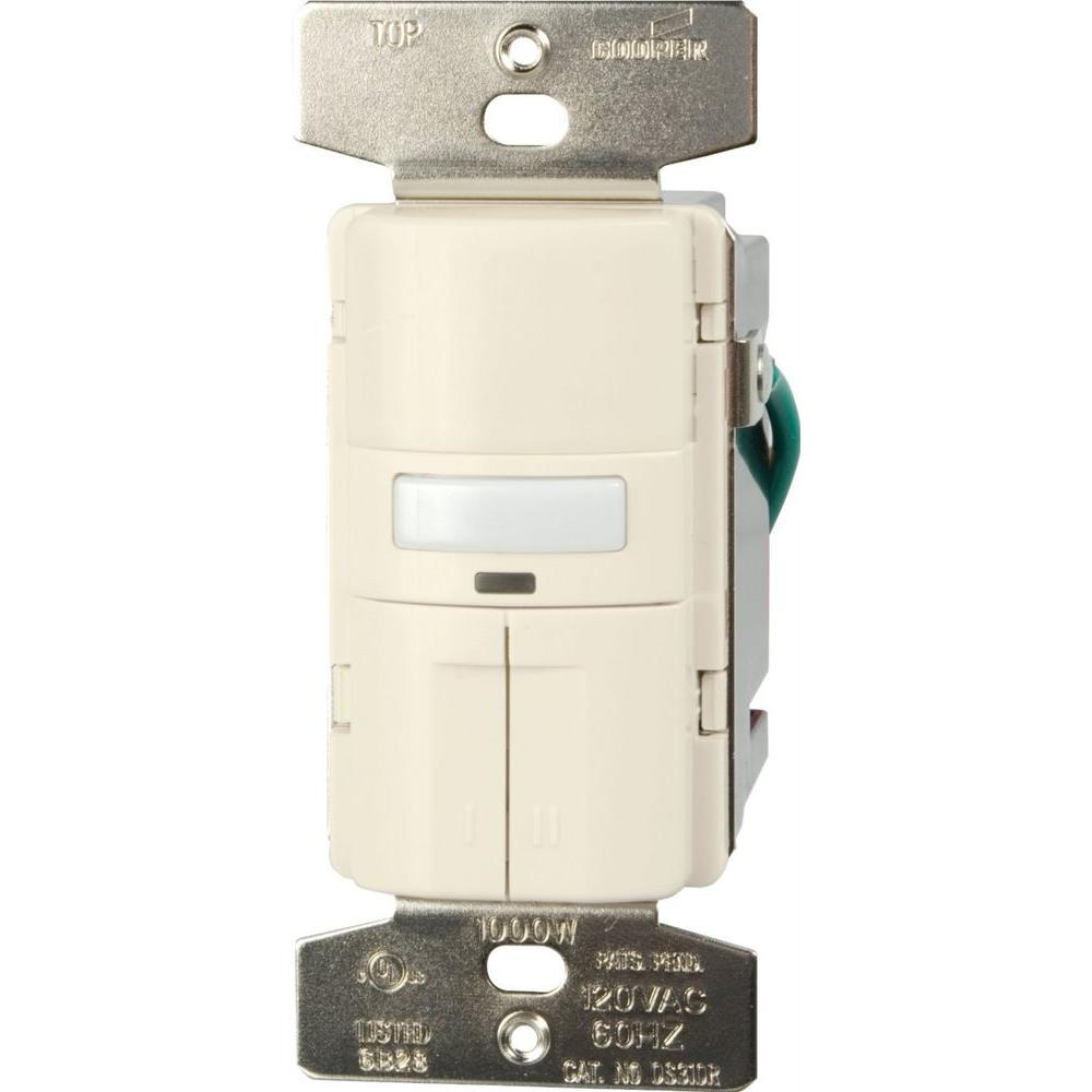 medium resolution of eaton savant motion activated vacancy sensor dual wall switch with turn offfind cooper wiring devices amp almond motion motion